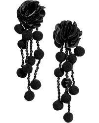 H&M - Pompom Earrings - Lyst