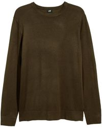 H&M - Long-sleeved Jersey Top - Lyst