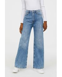 H&M - Wide Regular Jeans - Lyst