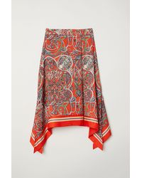 H&M - Patterned Skirt - Lyst