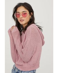 H&M - Knitted Hooded Jumper - Lyst