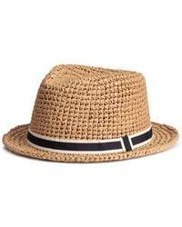 H&M - Straw Hat - Lyst