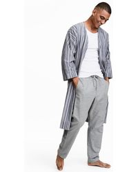 H&M - Oxford Cotton Dressing Gown - Lyst