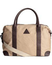 H&M - Canvas Weekend Bag - Lyst