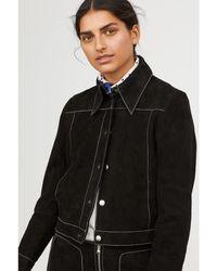 H&M - Short Suede Jacket - Lyst