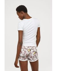 H&M - Short Twill Shorts - Lyst