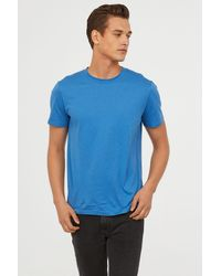 0300004d9cffdb Lyst - H M Cotton And Silk T-shirt in Green for Men