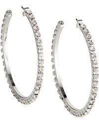 H&M | Sparkly Hoop Earrings | Lyst