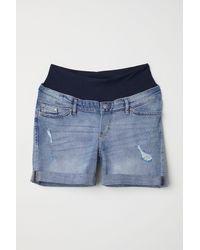 H&M - Mama Boyfriend Denim Shorts - Lyst
