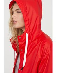 H&M - Hooded Rain Coat - Lyst