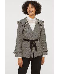 H&M - Jacket With Fringe - Lyst
