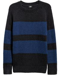 H&M - Knitted Wool-blend Jumper - Lyst