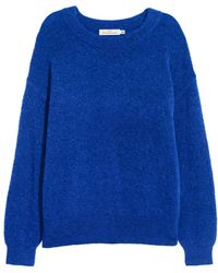 H&M - Fine-knit, Wool-blend Jumper - Lyst