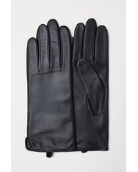 H&M - Leather Gloves - Lyst