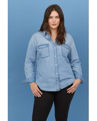H&M - + Denim Shirt - Lyst