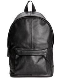 H&M - Leather Backpack - Lyst