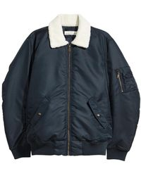 H&M - Bomber Jacket With Pile Collar - Lyst