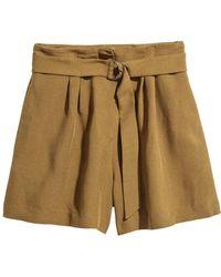 H&M - High-waisted Shorts - Lyst