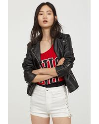 H&M - Shorts With Lacing - Lyst