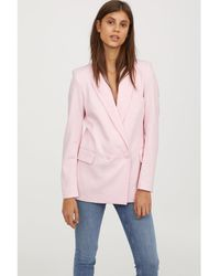 H&M - Double-breasted Jacket - Lyst