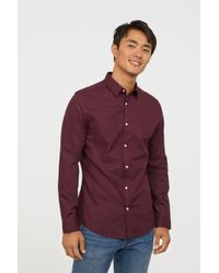 H&M - Easy Iron Shirt Slim Fit - Lyst
