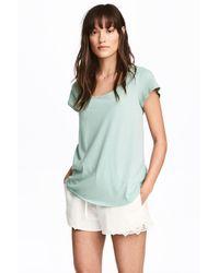 H&M - Linen-blend Shorts - Lyst