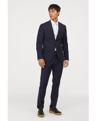 H&M - Wool-blend Trousers Slim Fit - Lyst