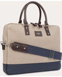 Hackett - New Jackson Cotton-canvas Briefcase - Lyst