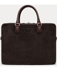 Hackett - Suede Documents Bag - Lyst