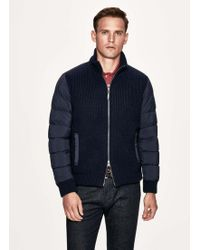 Hackett - Knitted Down-filled Jacket - Lyst