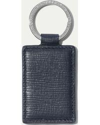 Hackett - Curzon Leather Key Ring - Lyst