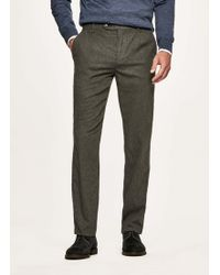 Hackett - Washed Wool-blend Trousers - Lyst