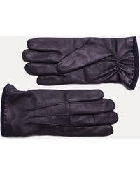 Hackett - Prix Seam Leather Gloves - Lyst