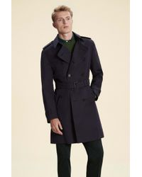 Hackett - Made In London Double-breasted Mac - Lyst