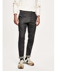 Hackett - Chambray Linen Cotton Chinos - Lyst