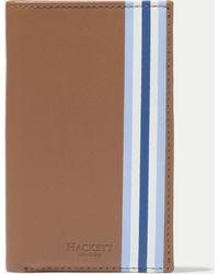 Hackett - Uni Print Leather Credit Card Book - Lyst
