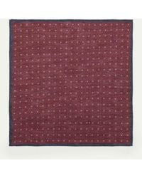 Hackett   Patterned Linen And Cotton-blend Pocket Square   Lyst