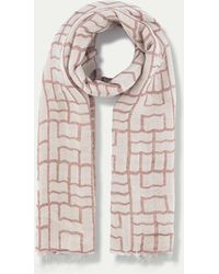 Hackett - Patterned Linen, Modal And Cotton-blend Scarf - Lyst