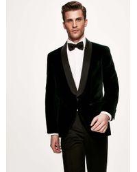 Hackett - Shawl Collar Velvet Cotton Formal Blazer - Lyst