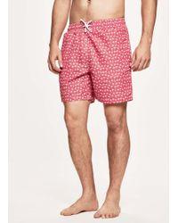 Hackett - Flamingo-print Swim Shorts - Lyst