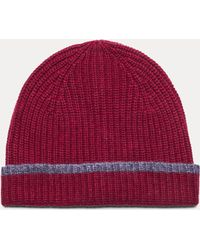 Hackett - Ribbed Wool And Cashmere Blend Beanie Hat - Lyst