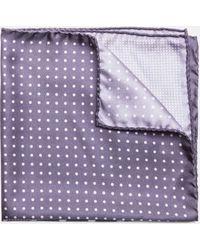 Hackett - Polka Dot Print Silk Pocket Square - Lyst