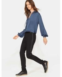 Halston - Tapered Slim Wool Trousers - Lyst