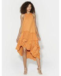 Halston - Flowy Pleated Dress - Lyst