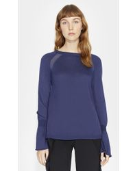 Halston - Cashmere Blend Sweater With Ggt Inserts - Lyst