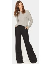 Halston - Wide Leg Wool Pant - Lyst