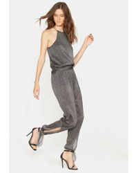 Halston - Jumpsuit With Ankle Ties - Lyst