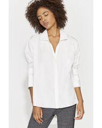 Halston - Smocked Cuff Shirt - Lyst
