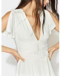 Halston - Flutter Sleeve Wrap Jersey Gown - Lyst