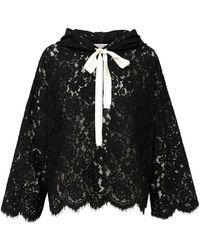 Dorothee Schumacher - Energised Lace Hoody In Black - Lyst